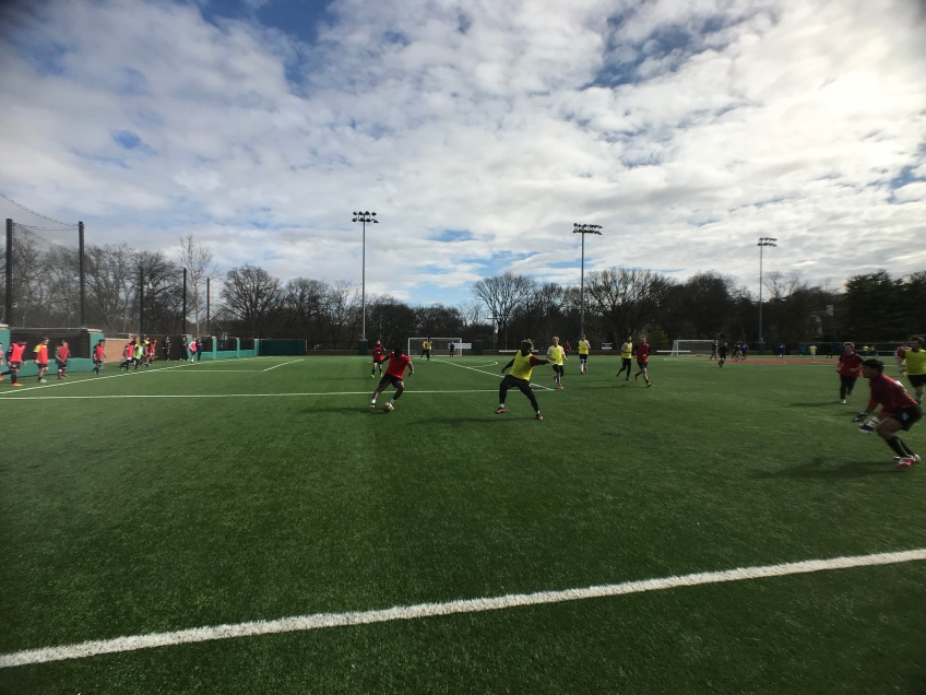 Players compete at a tryout for Nashville SC.