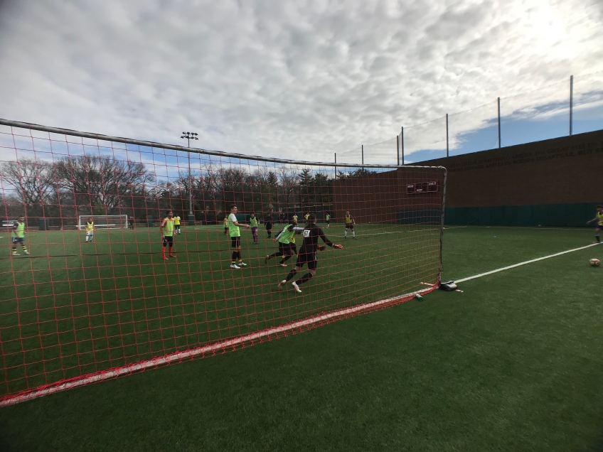 Players display their soccer skills during a tryout for Nashville SC.