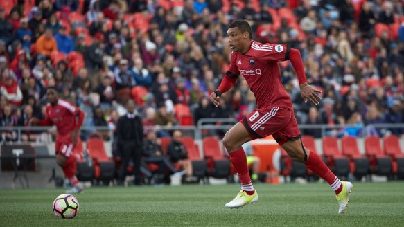 Steevan Dos Santos was the leading scorer for Ottawa Fury FC last season.