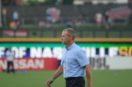 Nashville SC coach Gary Smith walks toward the tunnel before a match. | Golden Goal