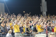 The Nashville SC supporters get behind their side during a corner | Golden Goal