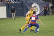 Matt LaGrassa battles Cincinnati midfielder Corbin Bone for possession / Golden Goal