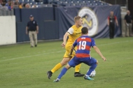 Matt LaGrassa battles Cincinnati midfielder Corbin Bone for possession / Golden Goal