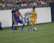 Nashville's Kosuke Kimura attempts to elude an FC Cincinnati defender. | Golden Goal