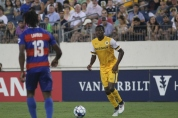 Lebo Moloto looks up for a teammate. Golden Goal